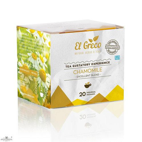 El Greco Chamomile tea bags - Pack-20