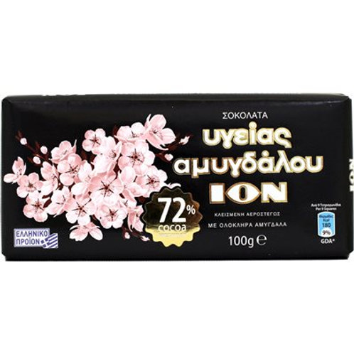 ION Extra Dark 72% with almonds - 100gr