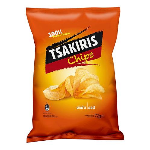 Tsakiris Chips Salt - 140gr