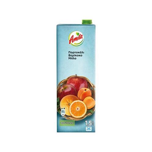 Amita Mix Orange, Apricot, Apple - 250ml