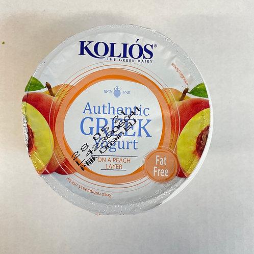 Kolios Greek Yogurt 0% with Peach - 150gr