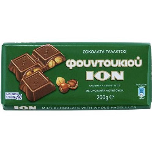 ION Milk chocolate with hazelnuts - 200gr