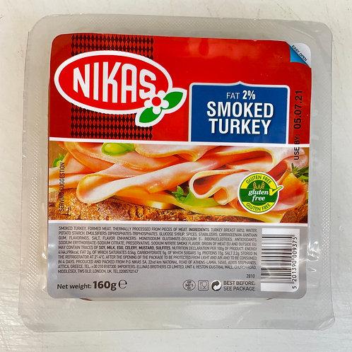 Nikas Smoked Turkey slices - 160gr