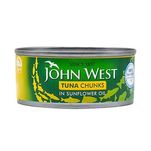 John West Tuna chunks Sunflower oil - 145gr