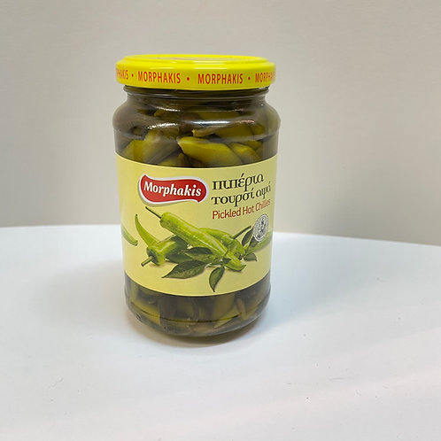 Morphakis Pickled Hot Chillies - 350gr