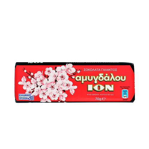 Ion Milk chocolate with Almonds - 70gr
