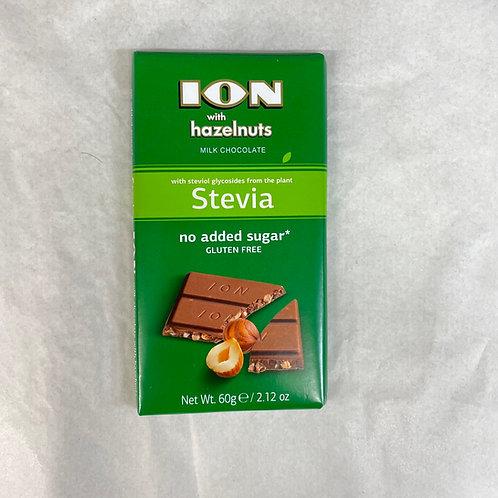 ION Stevia Milk choco with Hazelnut - 60gr