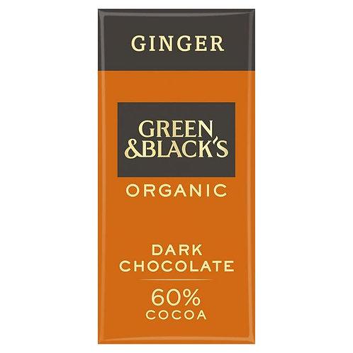 Green & Black Ginger Dark Chocolate