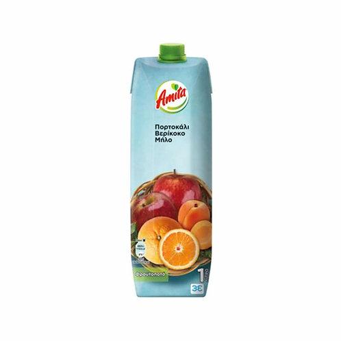 Amita Mix Orange,Apricot,Apple - 1L