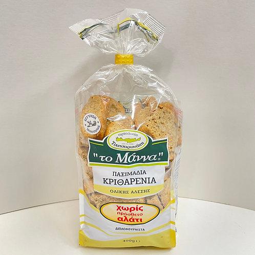 Manna Small Barley rusks No salt - 400gr