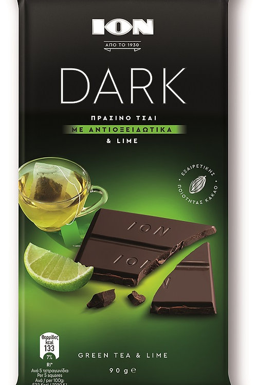 ION Dark choco Green Tea & Lime - 90gr