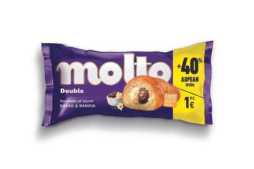Molto Croissant Double Cocoa & Vanilla +40% - 110gr