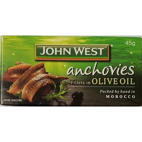 John West Anchovy fillets Olive oil - 50gr