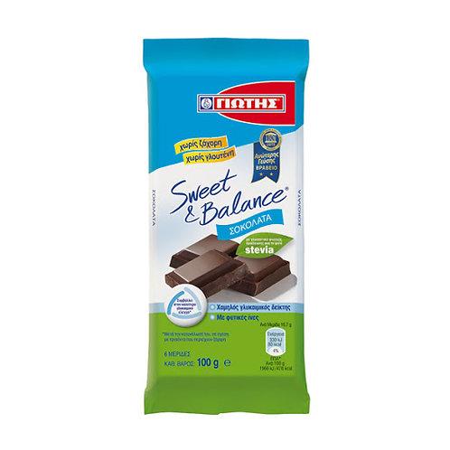 Jotis Sweet&Balance Dark Chocolate Stevia - 100gr