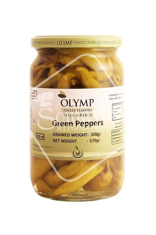 Olympos Green Peppers - 670gr
