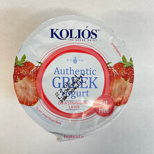 Kolios Greek Yogurt 0% with Strawberry - 150gr