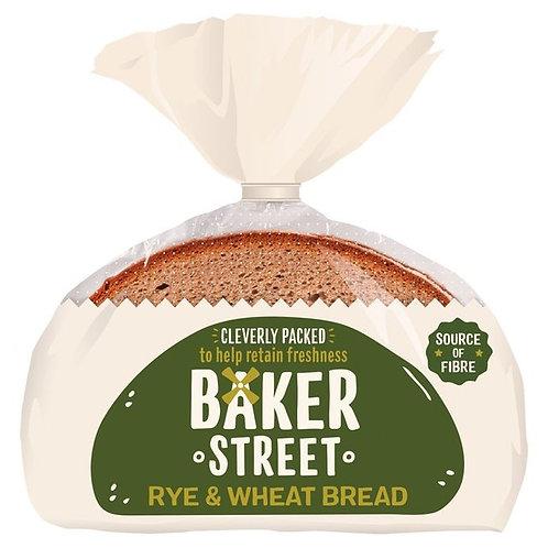 Baker Street Sliced Rye&Wheat Bread - 500gr