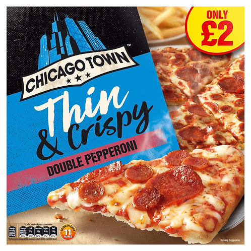 Chicago Town Thin Pepperoni Pizza 305gr