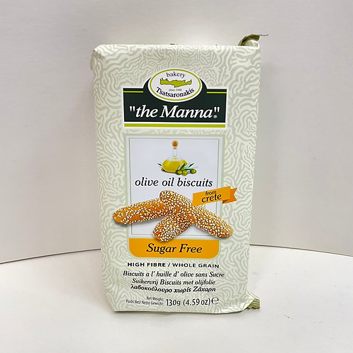 Manna Olive Oil sugarfree biscuits - 130gr