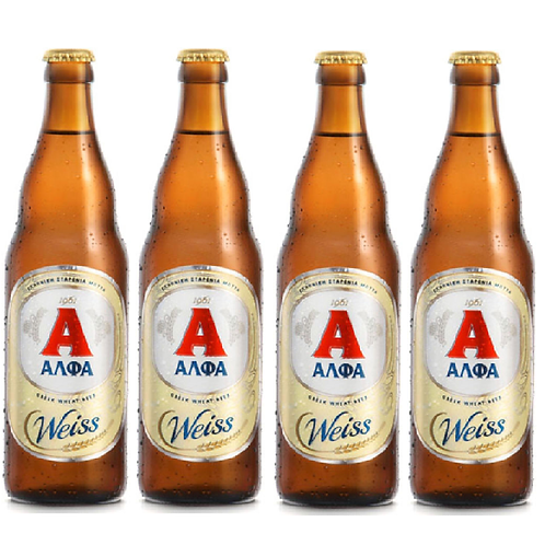 Alfa Weiss Greek Beer Pack-4