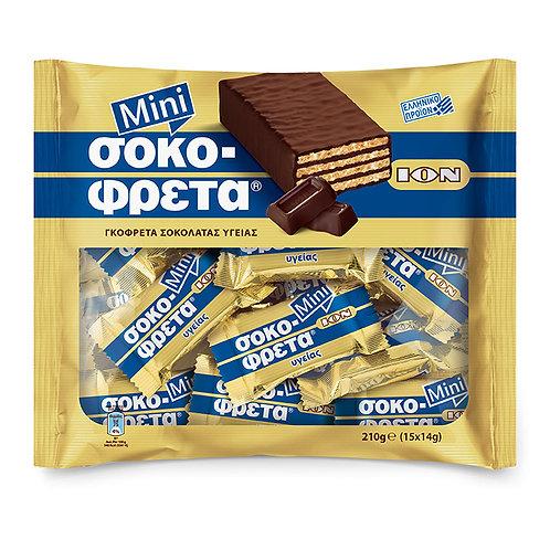 ION Mini Dark Choco wafers - 210gr