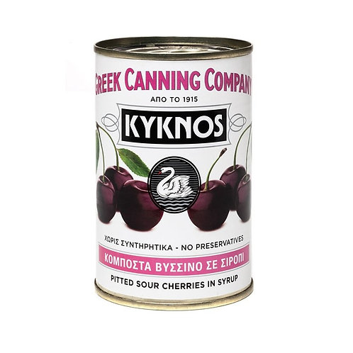 Kyknos Pitted Sour Cherries in syrup - 425gr