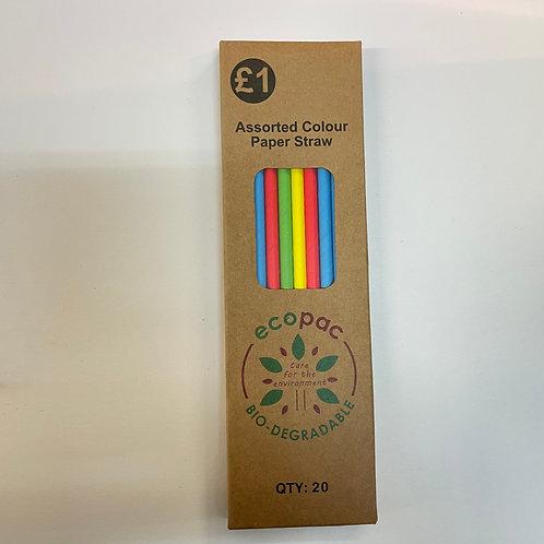 Ecopack Assort Paper Straws-20