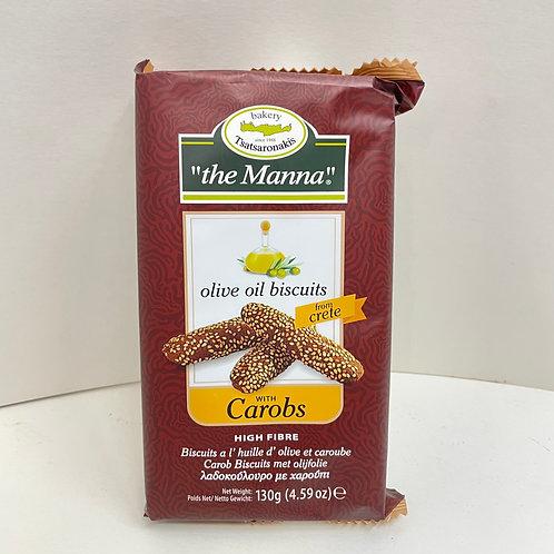 Manna Olive Oil Carob biscuits - 130gr