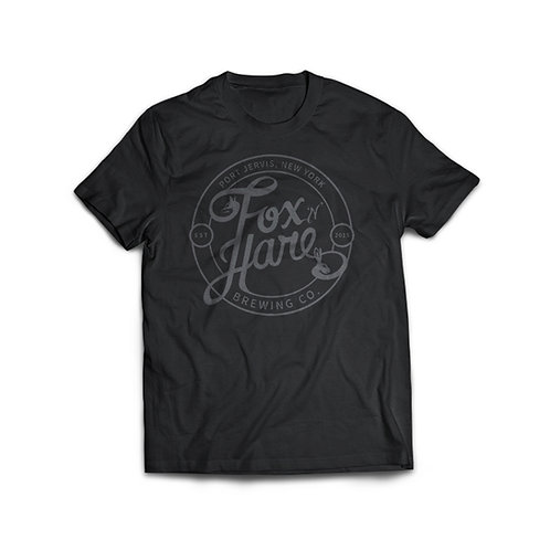 Fox N Hare Logo T Shirt (Black)