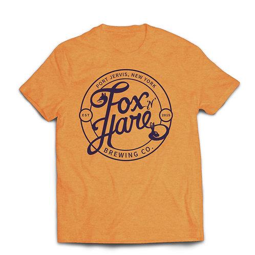Fox N Hare Logo Tee Shirt (Heather Orange)