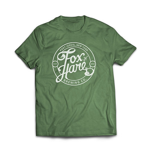 Fox N Hare Logo T Shirt (Heather Green)