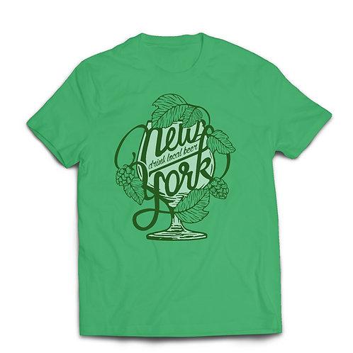 Drink Local NY Shirt (Heather Irish Green)