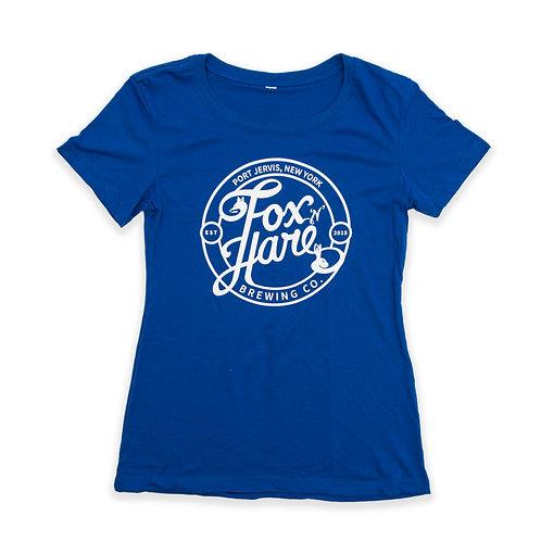 Fox N Hare Logo Ladies Crew Tee