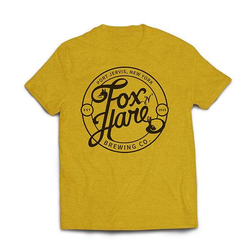 Fox N Hare Logo Tee Shirt (Mustard Yellow)