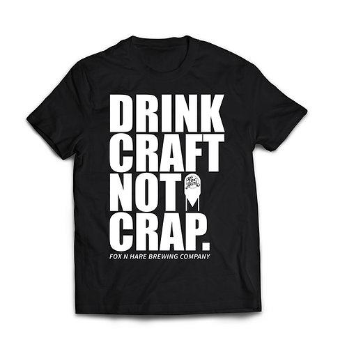 Drink Craft Not Crap T Shirt (Black)
