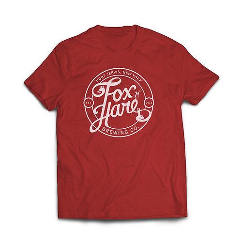 Fox N Hare Logo T Shirt (Cherry Red)