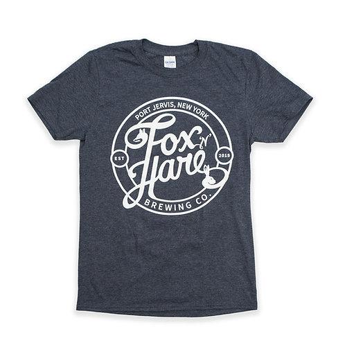 Fox N Hare Logo T Shirt (Heather Navy)