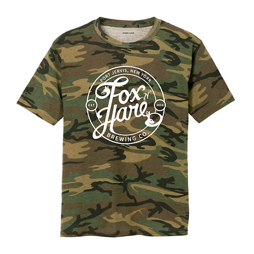 Fox N Hare Logo T Shirt (Camo Green)
