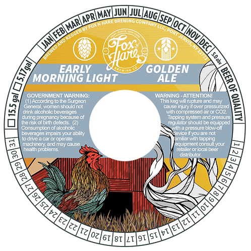 1/2 BBL Keg Early Morning Light