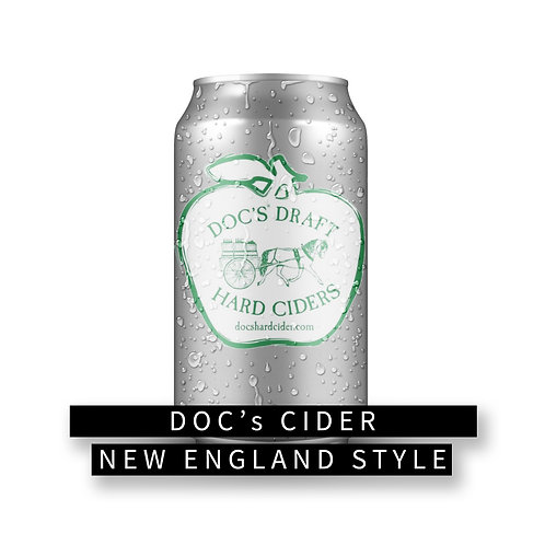 Doc's New England Style Cider 32 oz Crowler