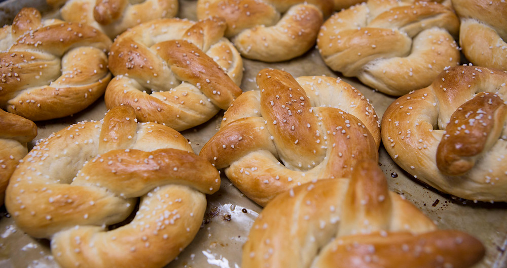 Homemade Pretzels at Fox N Hare Brewing Company