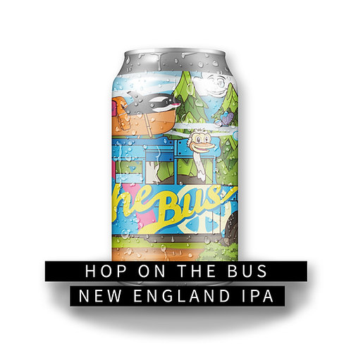 Hop on the Bus 32oz Crowler