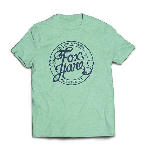 Fox N Hare Logo Tee Shirt (Heather Mint)