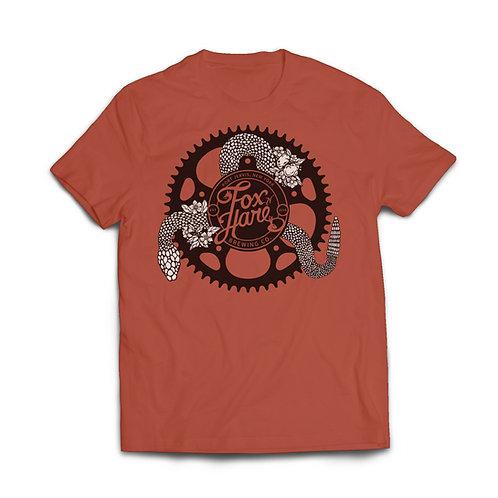 Bike Gear w/ Snake FNH Logo T Shirt (Red)