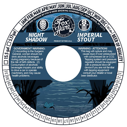 1/2 BBL Keg Night Shadow