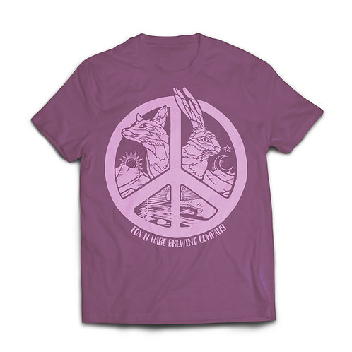 Fox N Hare Peace Shirt (Heather Maroon)