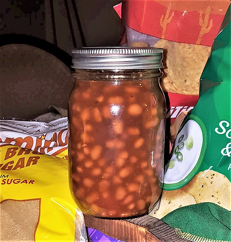 1/2 Pint Of Our Slow-Smoked Brown Sugar Baked Beans