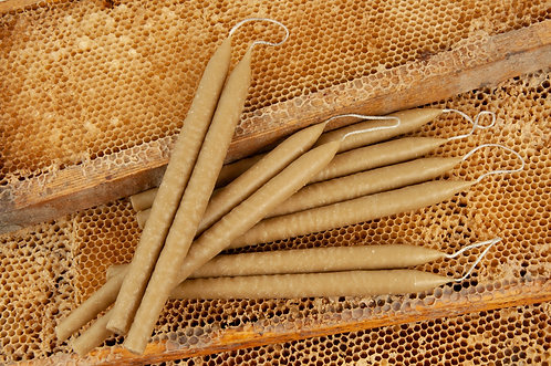 12pcs Natural Beeswax Candles 100% Pure 1lb Total Weight