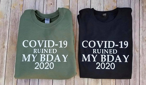 COVID-19 Birthday Shirt
