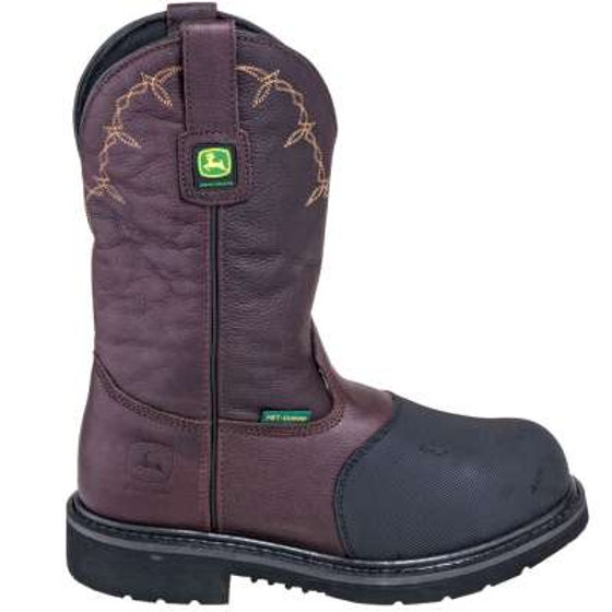 d070863d3aa John Deere Men's JD4375 Steel TOE Metguard Brown Fire-Retardant Boots |  Burge's Boots